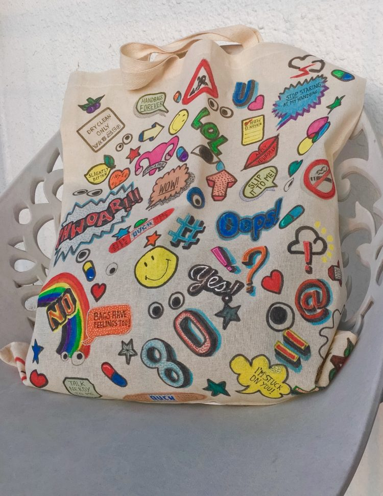 Diy all over sticker bag with just 2 items