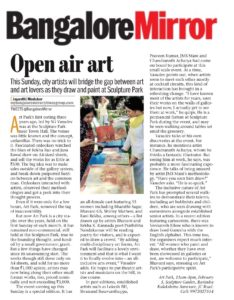Open Air Art - Bangalore Mirror